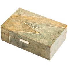 For Sale on - A French Art Deco Shagreen box, circa Striking design & a beautiful patina of muted colours. The geometric design to the lid & the foreword edge