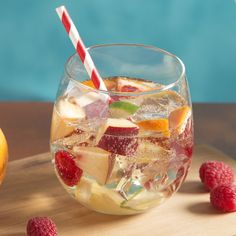For a hit during warm-weather months, try a white sangria recipe.