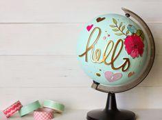 Hola guapísimas!!! Que levante la mano a quién le gustan los globos terráqueos!!!!! Muchas por aquí??? Pues me alegro porque hoy os ven...