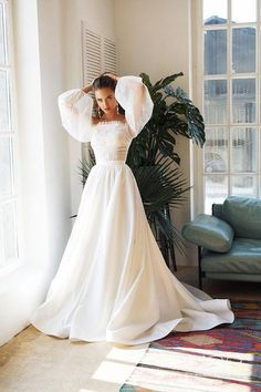 Wonderful Perfect Wedding Dress For The Bride Ideas. Ineffable Perfect Wedding Dress For The Bride Ideas. Dresses Elegant, Pretty Dresses, Beautiful Dresses, Dream Wedding Dresses, Bridal Dresses, Prom Dresses, Poofy Wedding Dress, Gown Wedding, Sleeved Wedding Dresses