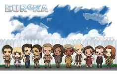 [commission] Eureka Cast by JoannaJohnen on DeviantArt Eureka Show, Eureka Tv Series, Cameron Mitchell, 12 Monkeys, Drawing Tutorials For Kids, Science Fiction Series, Sci Fi Shows, The Mentalist, Me Tv