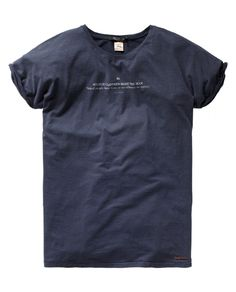 """""""Scotch Clothes Make the Man, Naked people have little or no influence on society.""""Anti-fit Scotch & Soda signature crew neck tee - T-shirts - Scotch & Soda Online Shop  $45.00"""