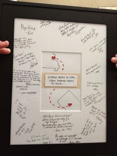 Going away gift- Maybe something like this but with a letter from me behind it so they can hang it up...like a goodbye letter