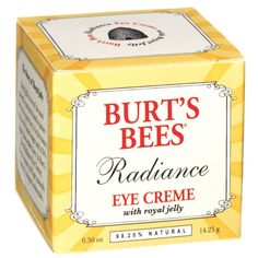 Buy Burt's Bees Radiance Eye Creme , luxury hair care, skincare and cosmetics at HQHair.com, with Free Delivery.