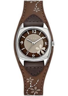 Horloge met een gestikt motief bestellen   s.Oliver Online Shop