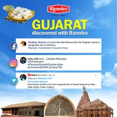 Discover India with Ramdev    Voyaging around different cultures and discovering the food which makes our Indian states so special finally concludes with Gujarat, our home town. Pay greetings to the top & final comments of the week.     #Ramdev #ContestResults #Gujarat #India #TopComments