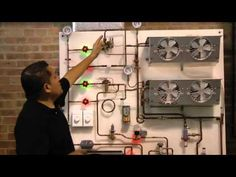Refrigeracion comercial entrenamiento. - YouTube Refrigeration And Air Conditioning, Commercial Hvac, Power Supply Circuit, Speaker Amplifier, Electrical Wiring, Track Lighting, Engineering, Ceiling Lights, Cool Stuff