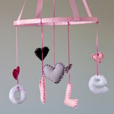 Baby Nursery Crib Mobile- Love or Custom Name
