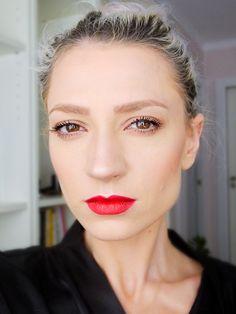 red lips, red, no makeup makeup, daily makeup, maquillaje diario, labios rojos