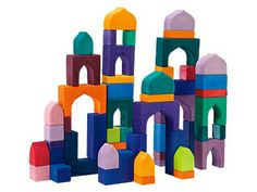 Arabian Nights  The 1001 Nights blocks set gets its title from the Arabic folklore it evokes. Its brightly stained pieces (all 54 of them) really set your skyline apart.    Available at magiccabin.com, $139.