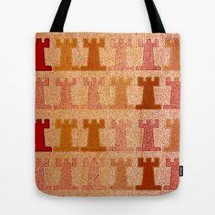 Tribal Tower Tote Bag by Fernando Vieira