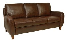 Pin New Luke Leather Weston Cherry Red Loveseat Only With...
