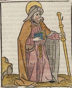 [Legendae sanctorum quas collegit in unum frater Jacobus de Voragine,. Medieval Manuscript, Medieval Art, Pilgrim Clothing, Rainy City, Renaissance, City Art, 14th Century, Middle Ages, Photo Art