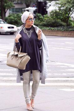 Hijab Fashion 2016/2017: Stylish Hijabi Street styles www.justtrendygir