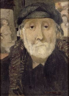 [Maurice Denis (French, 1870-1943)》▪ Portrait du Peintre, Edgar Degas, 1906. Oil on canvas, 33 x 24 cm]