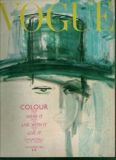 Vogue UK, November Illustration by Gladys Perrint Vogue Magazine Covers, Fashion Magazine Cover, Fashion Cover, Magazine Art, Vogue Vintage, Vintage Vogue Covers, Vintage Ads, Vintage Style, Vintage Fashion