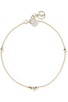 Anissa Kermiche 14-karat Gold, Sapphire And Mother-of-pearl Bracelet