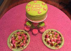 Party time! Vanilla Cake w/Vanilla Buttercream and Funfetti Cupcakes