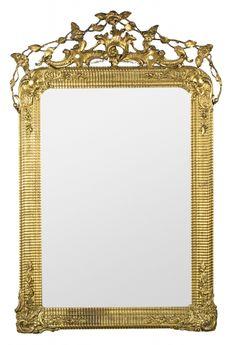 Espejo con marco Napoleón III en madera y estuco dorados, del tercer cuarto del siglo XIX