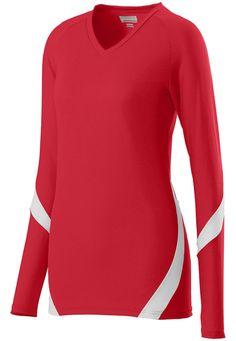 2ab8b99fcb9 Augusta Sportswear Women s Fit V Neck Long Sleeve Dig Sports T-Shirt. 1325  Augusta