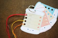Printable Thread Organizers by wildolive, via Flickr