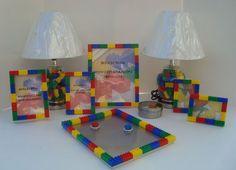 lego bedroom ideas... Love the Lego frames!!!: