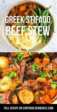 Pork Stew Meat, Stew Meat Recipes, Pork Recipes, Lunch Recipes, Dinner Recipes, Winter Snacks, Beef Stifado, Healthy Family Dinners, Greek Dishes