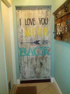 Backside of pallet barn door