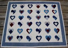 Pieced heart quilt.