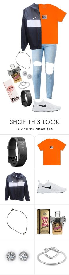 """""""Kylie Jenner vibes"""" by kyleemorrison ❤ liked on Polyvore featuring Fitbit, NIKE, Juicy Couture and La Preciosa"""