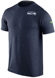 Workout in this graphic tee while supporting the Seattle Seahawks. This Nike  men's NFL Dri