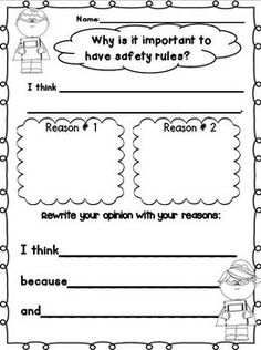 School Safety Super Hero Writing Mini Unit for 1st-3rd Graders!  FREEBIE in the DOWNLOAD PREVIEW!  We ALL practice safety drills and safety rules at the beginning of the year!  This Mini unit is FILLED with writing templates for many of the drills/rules we need to cover.  This mini unit has a Super Hero Theme! :o)