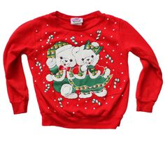 Vintage 90s Ugly Christmas Sweater  Kids 5 by bluebutterflyvintage