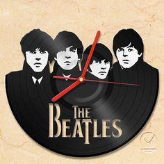 vinyl wall clock The Beatles by Anantalo on Etsy, ฿1190.00