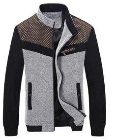 Cool Men's Coats for Sale Online Page 3 Sweater Jacket, Men Sweater, Mens Clothing Styles, Mens Sweatshirts, Mantel, Sportswear, Winter Jackets, Men Casual, Mens Fashion