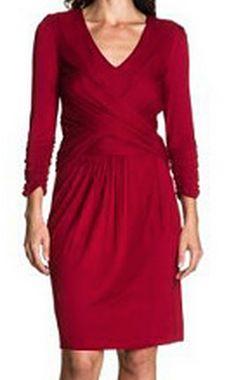 Vestido rojo de punto, de Hoss Intropia