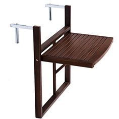 Butlers LODGE Folding table for balcony railings brown Balcony Railing Design, Small Balcony Design, Small Balcony Decor, Small Outdoor Spaces, Balcony Furniture, Diy Outdoor Furniture, Outdoor Decor, Condo Living, Home Living