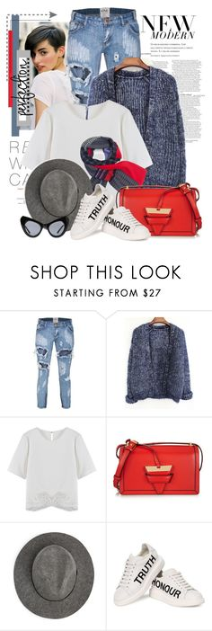 """""""Untitled #2316"""" by bellerodrigues ❤ liked on Polyvore featuring moda, ASOS, One Teaspoon, Loewe, MANGO, Alexander McQueen e UNIF"""