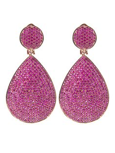 Ruby Tear Drop Earrings