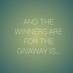 The givaway winners for my channel!