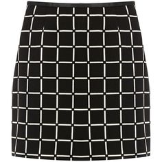 OASIS Grid Check Skirt (2,210 INR) ❤ liked on Polyvore featuring skirts, mini skirts, bottoms, saias, multi, short a line skirt, mini skirt, short skirts, reversible skirt and short mini skirts