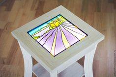 Светящийся журнальный кофейный столик Прованс мебель с витражом - купить или заказать в интернет-магазине на Ярмарке Мастеров - 23Y4VRU | Авторский витражный светящийся журнальный столик…