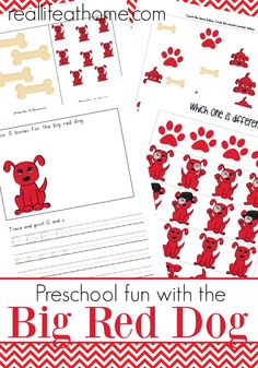 Preschool fun with the Big Red Dog: Printables Inspired by the Clifford the Big Red Dog books