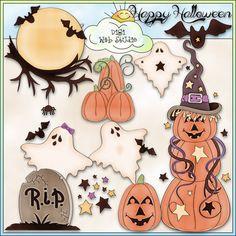 Happy Halloween 1 - NE Trina Clark Clip Art : Digi Web Studio, Clip Art, Printable Crafts & Digital Scrapbooking!