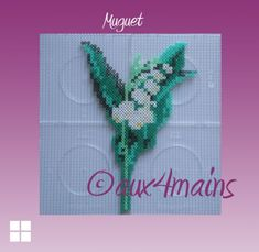 Lily hama perler by aux4mains