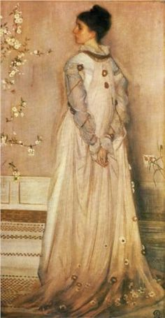 Symphony in Flesh Colour and Pink: Portrait of Mrs Frances Leyland - James McNeill Whistler -  1873
