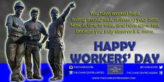 You truly deserve a sparkling celebration on this special day. Happy Workers' Day from all of us @CHAIRCENTRE