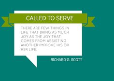 after all, we want to live a life resembling as much of Christ as we can. We are here to serve one another. Just being an example could change someone's life.