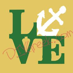 "Used ""keep on /love"" stencil and anchor from our on Alpha Sigma Tau stencil."
