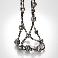 Diamond and Tahitian Pearl Necklace,Gellner
